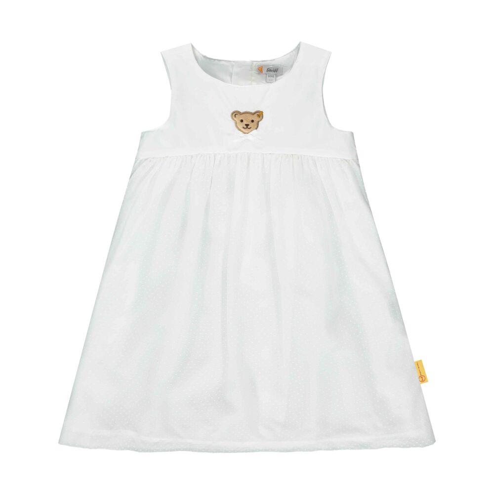 Steiff apró pöttyös elegáns ujjatlan ruha kislányoknak - Special day - mini girls kollekió - fehér - Bunny and Teddy