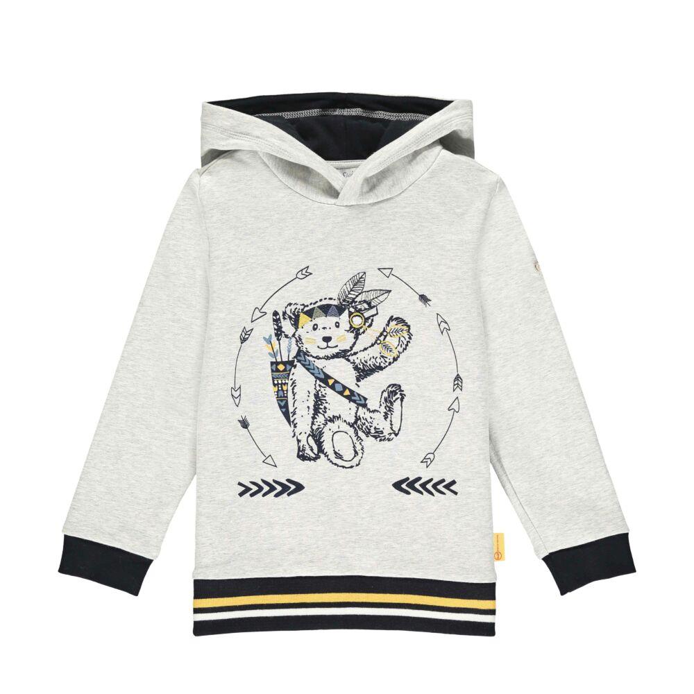 Steiff kapucnis pamut melegítő felső, pulóver- Mini Boys - Indi Bear kollekcó szürke    Bunny and Teddy