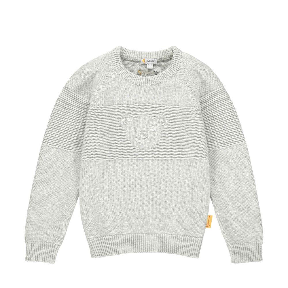 Steiff kötött pulóver- Mini Boys - Indi Bear kollekcó szürke  | Bunny and Teddy