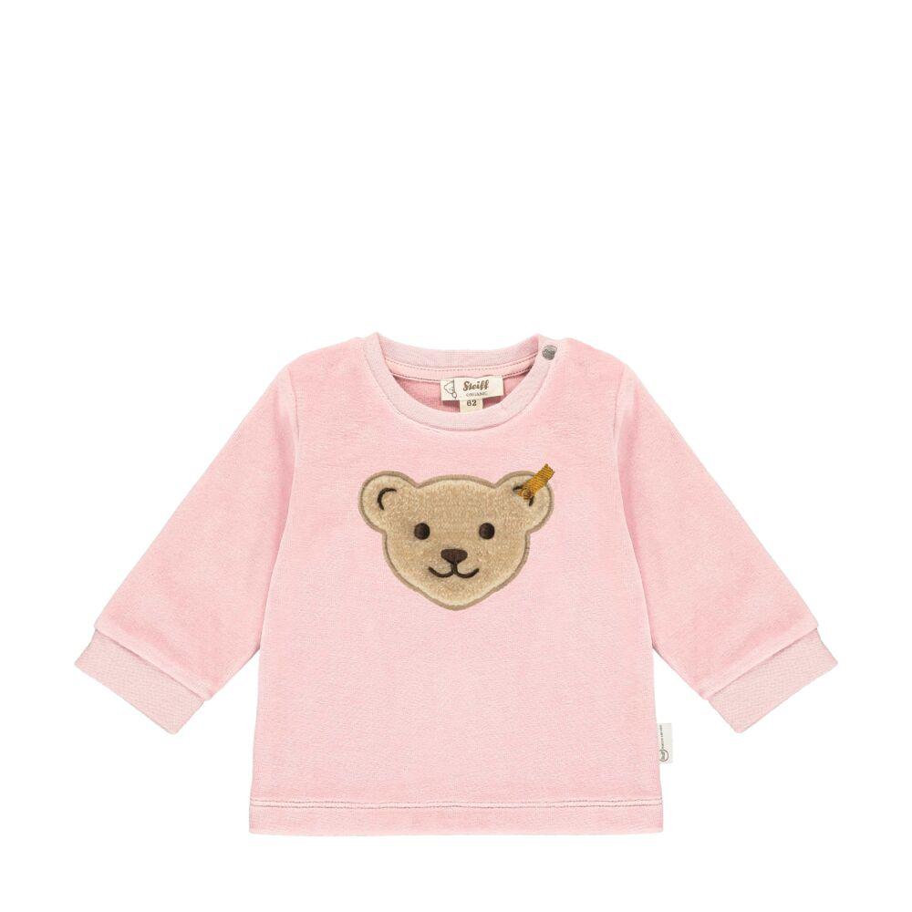Steiff plüss biopamut pulóver, melegítő felső- Baby Organic - Raindrops kollekcó világos rózsaszín    Bunny and Teddy