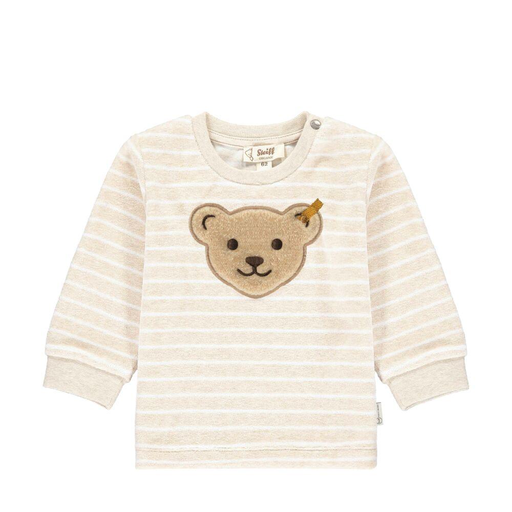 Steiff csíkos plüss biopamut melegítő felső - Baby Unisex Organic - Bear Hugs kollekcó bézs    Bunny and Teddy