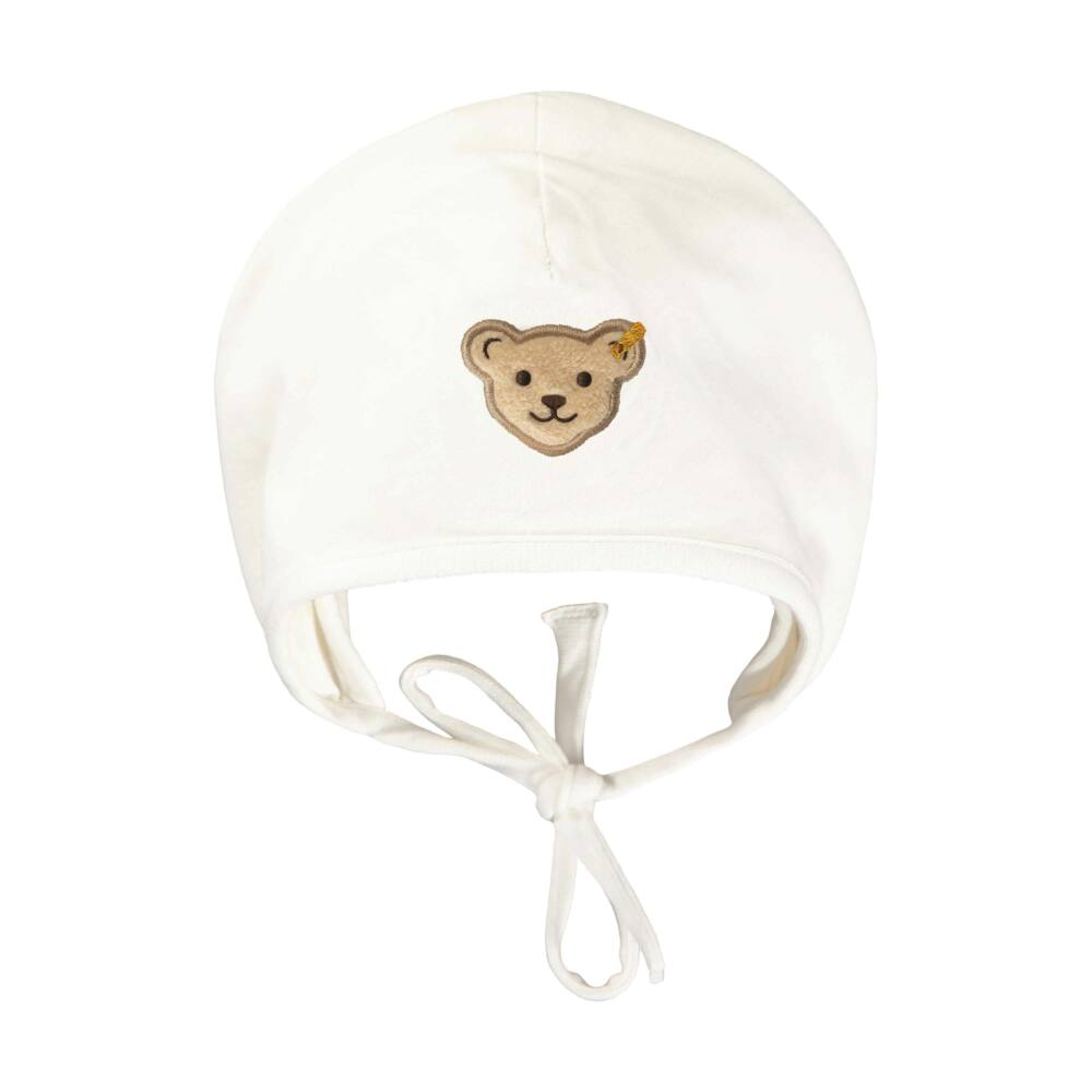 Steiff plüss sapka biopamutból- Baby Unisex Organic - Bear Hugs kollekcó krém    Bunny and Teddy