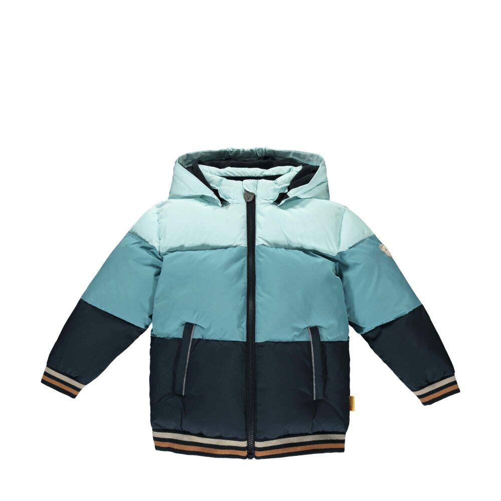 Steiff meleg kabát bionic finish eco vízlepergető és szélálló impregnálással- Mini Boys - Forest Friends kollekcó kék  | Bunny and Teddy