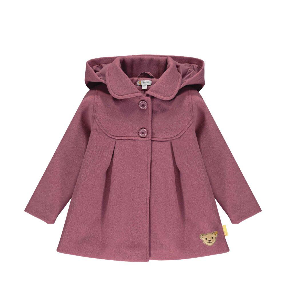 Steiff kislány szövetkabát, télikabát levehető kapucnival- Mini Girls - Fairytale kollekcó rózsaszín  | Bunny and Teddy
