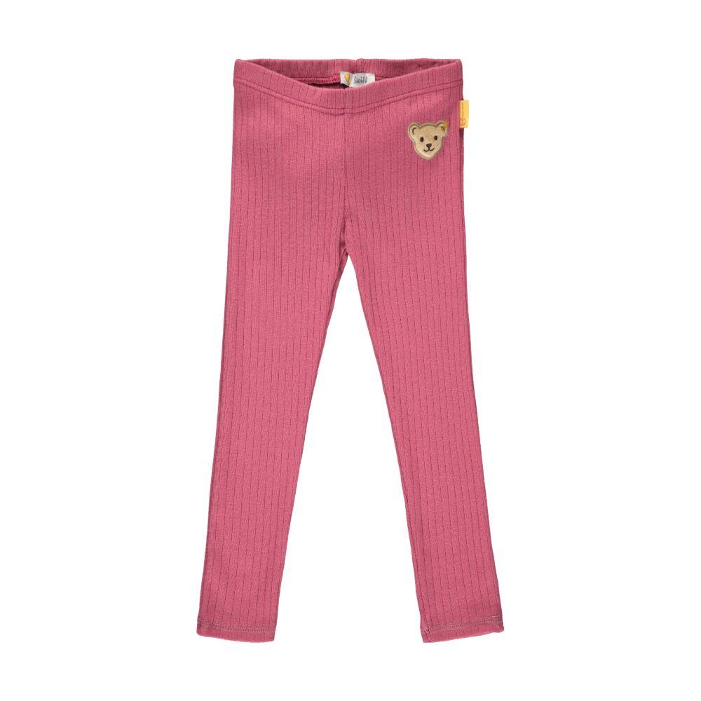 Steiff leggings bordázott anyagból- Mini Girls - Fairytale kollekcó rózsaszín  | Bunny and Teddy
