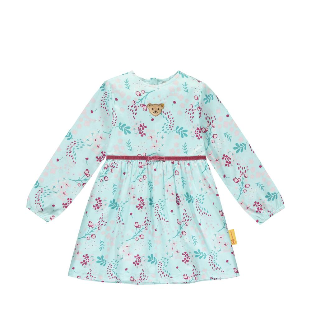 Steiff levél mintás elegáns ruha- Mini Girls - Fairytale kollekcó kék    Bunny and Teddy