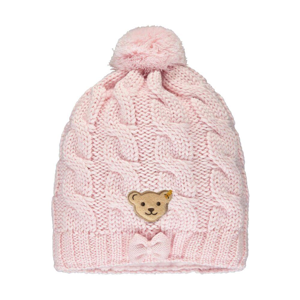 Steiff kötött sapka masnival- Mini Girls - Fairytale kollekcó világos rózsaszín    Bunny and Teddy