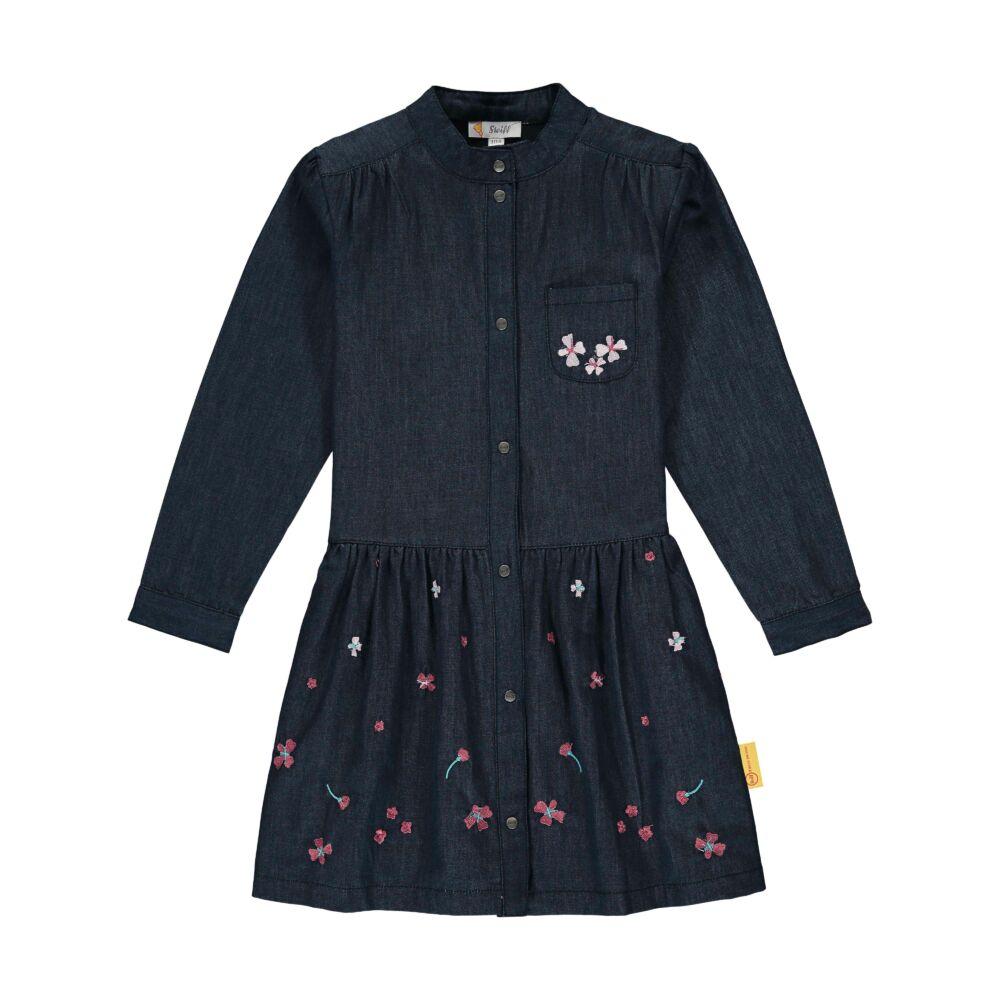 Steiff farmer ruha hímzett virágokkal- Mini Girls - Fairytale kollekcó sötétkék    Bunny and Teddy