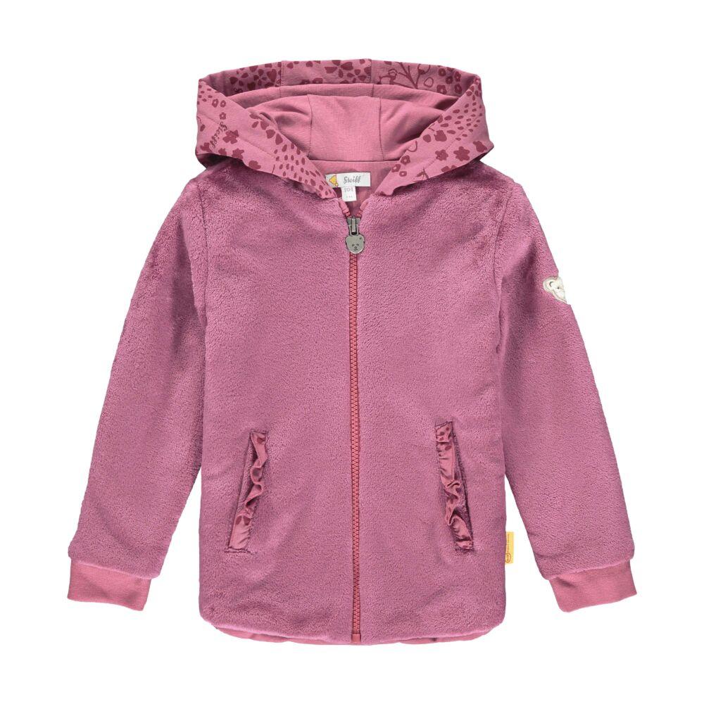 Steiff kapucnis puha meleg pulóver cipzárral- Mini Girls - Fairytale kollekcó rózsaszín  | Bunny and Teddy
