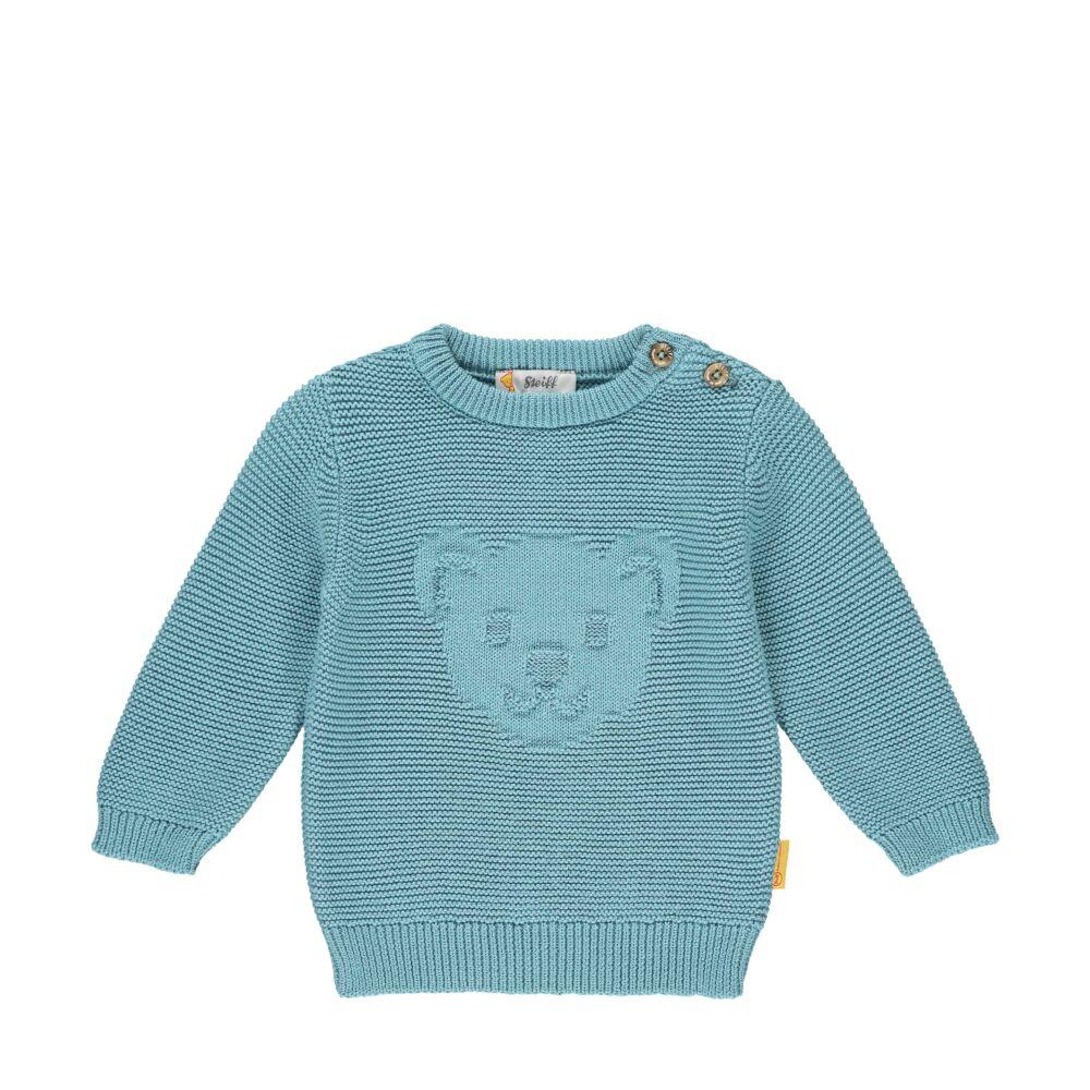 Steiff kötött pulóver- Baby Boys - Forest Friends kollekcó kék  | Bunny and Teddy