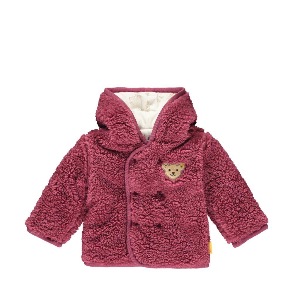 Steiff melegen bélelt kabát, kocsikabát teddy plüss anyagból- Baby Girls - Fairytale kollekcó rózsaszín  | Bunny and Teddy