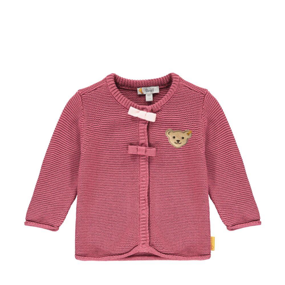 Steiff kötött kardigán- Baby Girls - Fairytale kollekcó rózsaszín  | Bunny and Teddy