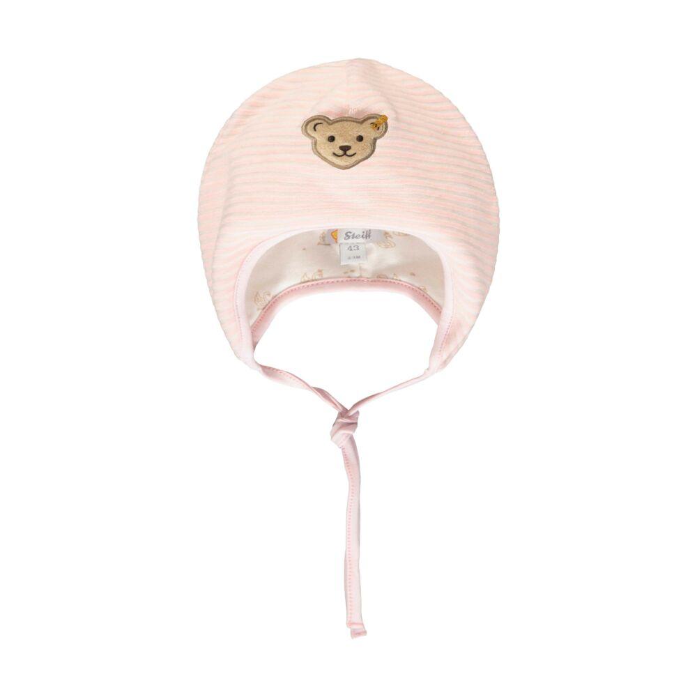 Steiff meleg bélelt sapka puha plüss anyagból- Baby Girls - Fairytale kollekcó világos rózsaszín  | Bunny and Teddy