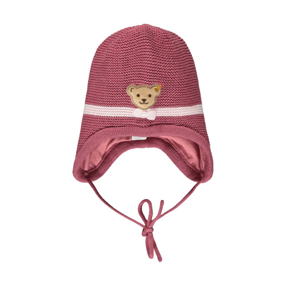 Steiff kötött bélelt kislány sapka- Baby Girls - Fairytale kollekcó rózsaszín  | Bunny and Teddy