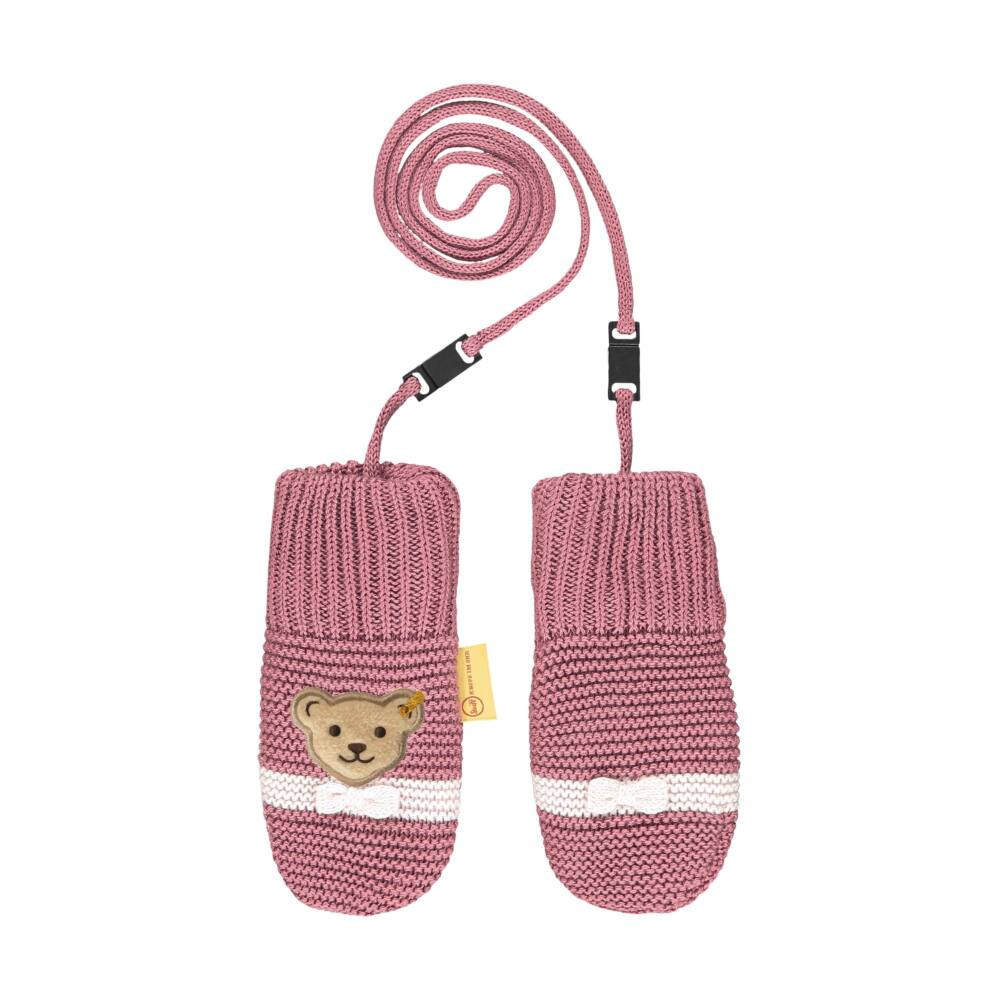 Steiff kötött bélelt kislány kesztyű - Baby Girls - Fairytale kollekcó rózsaszín  | Bunny and Teddy