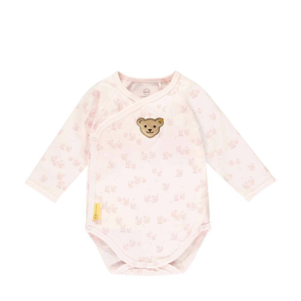 Steiff hattyú mintás átlapolós body- Baby Girls - Fairytale kollekcó világos rózsaszín  | Bunny and Teddy