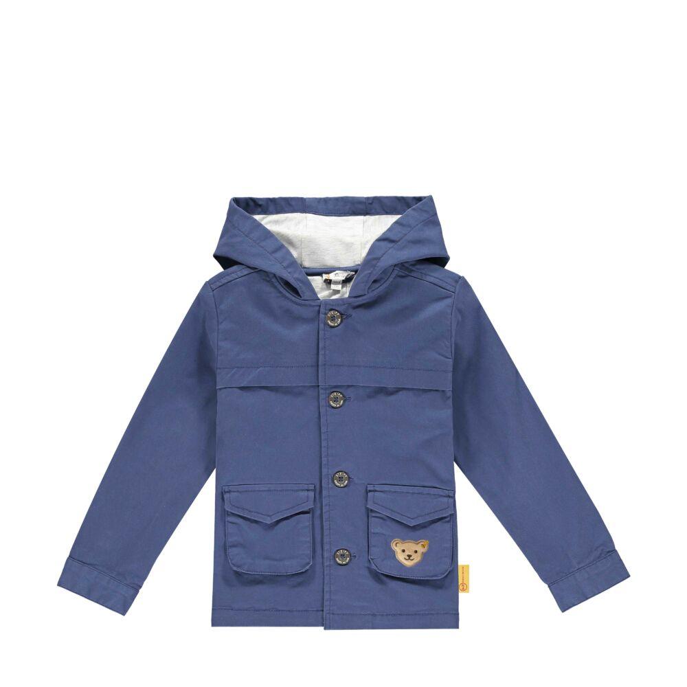 Steiff vékonyan bélelt pamut kabát kapucnival- Mini Boys - High 5! kollekcó kék  | Bunny and Teddy