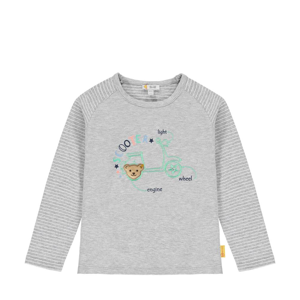 Steiff hosszú ujjú póló- Mini Boys - High 5! kollekcó szürke    Bunny and Teddy