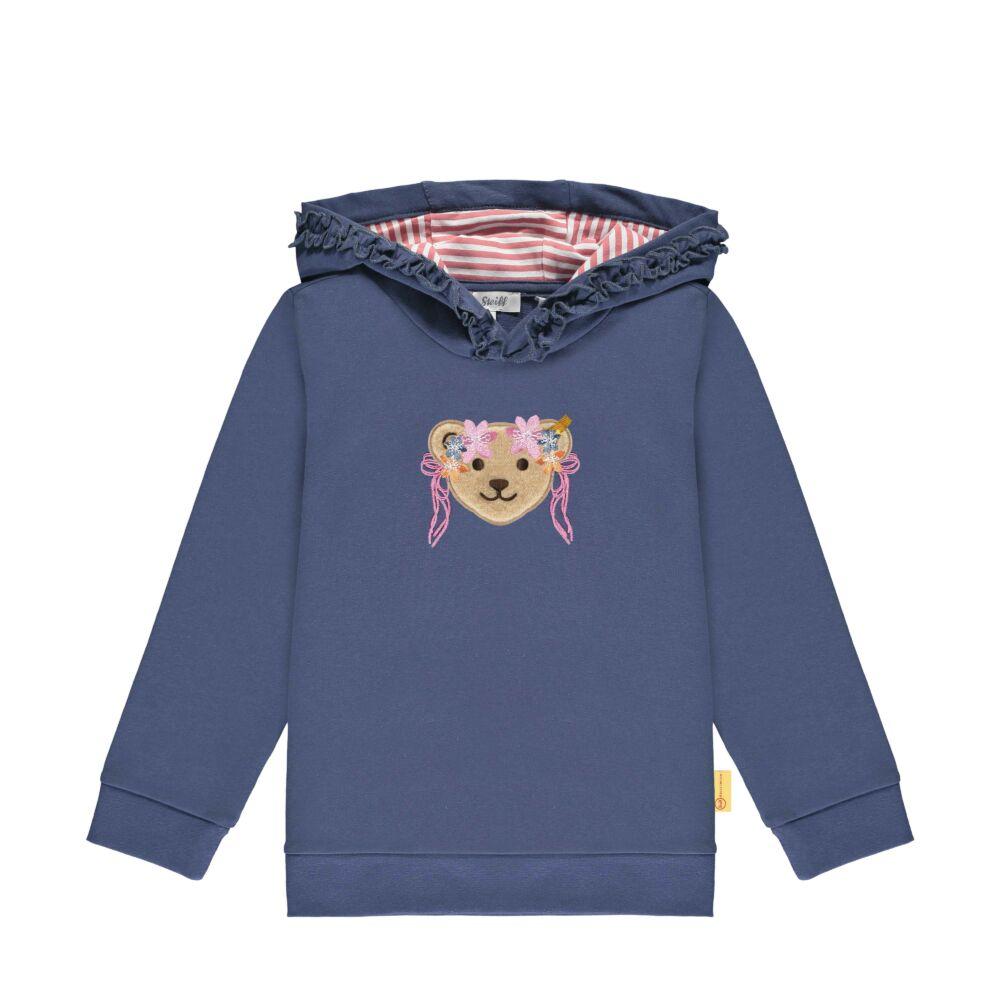 Steiff kapucnis belebújós pamut pulcsi- Mini Girls - Bugs Life kollekcó kék    Bunny and Teddy