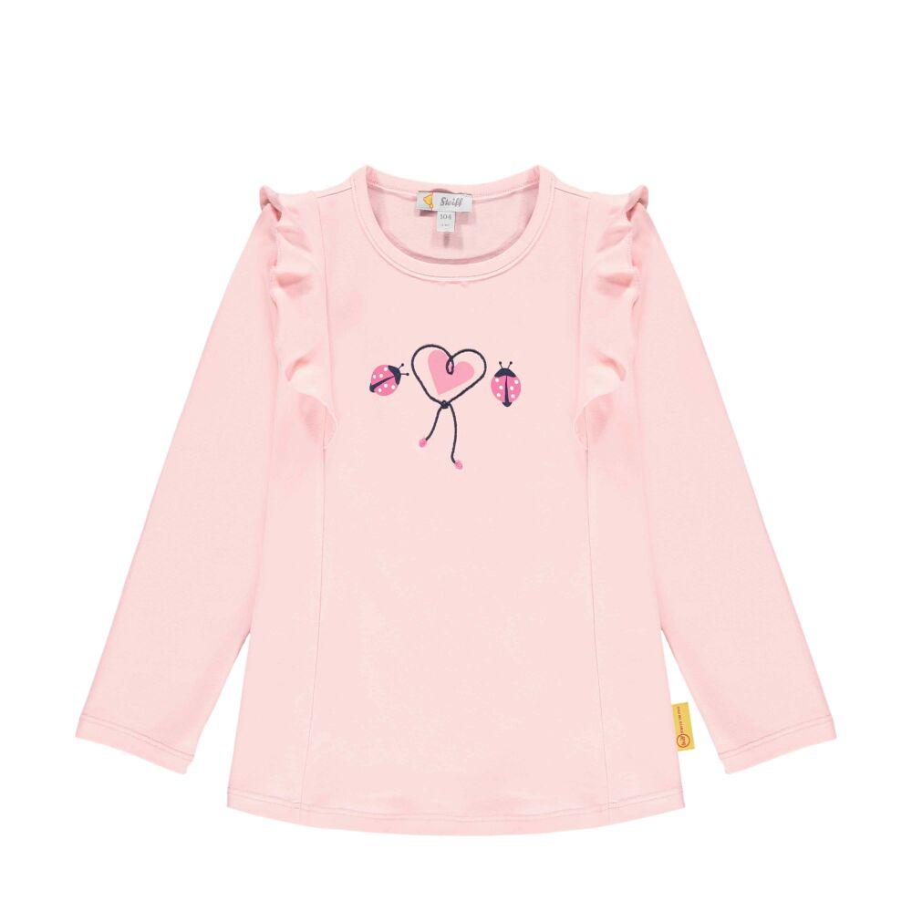 Steiff hosszú ujjú fodros póló- Mini Girls - Bugs Life kollekcó világos rózsaszín  | Bunny and Teddy