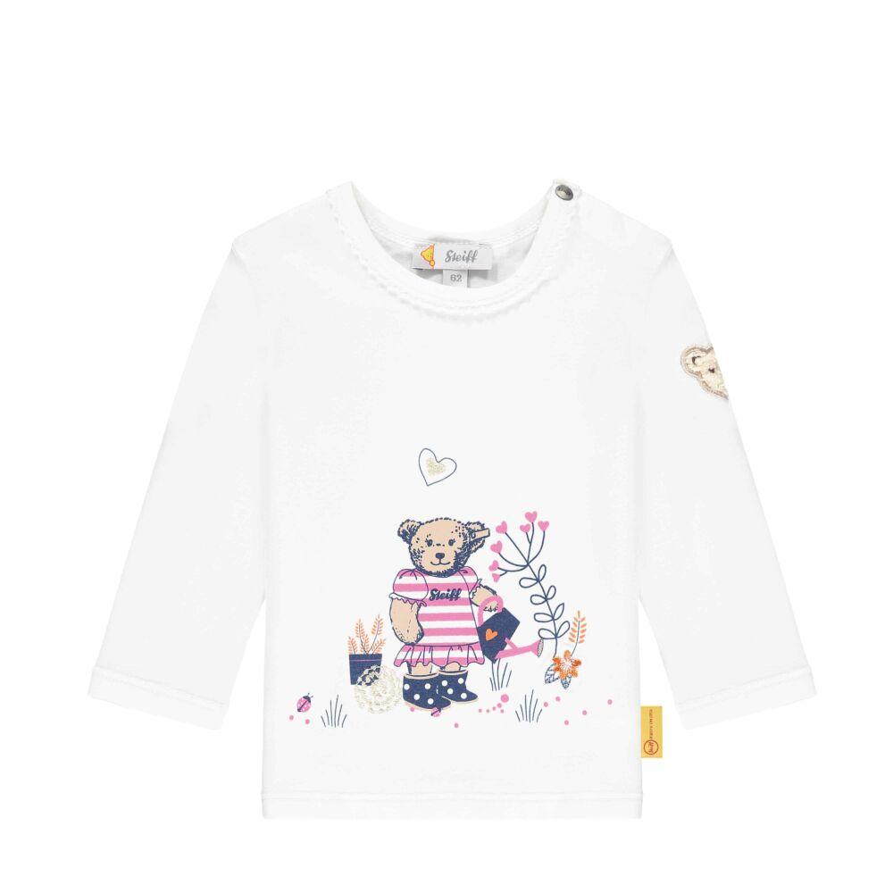 Steiff hosszú ujjú  baba felső kertész macival- Baby Girls - Bugs Life kollekcó fehér  | Bunny and Teddy