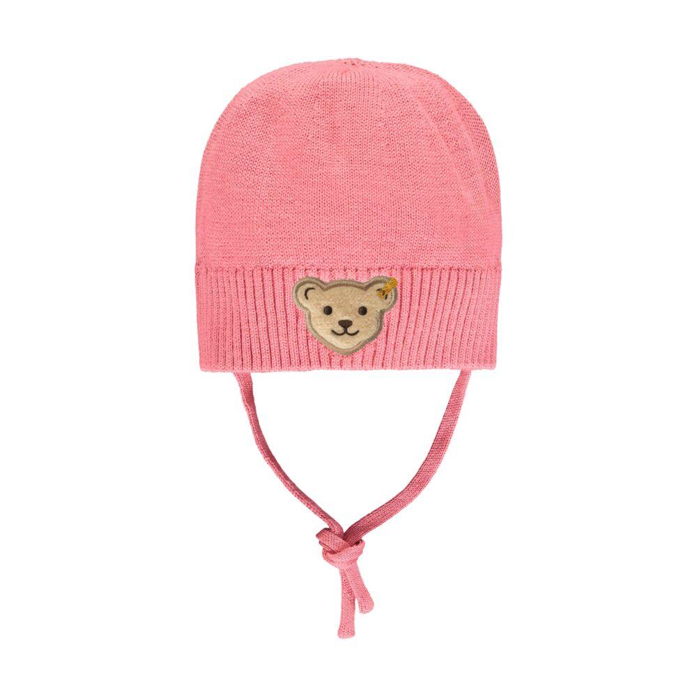 Steiff kötött bélelt sapka- Baby Girls - Bugs Life kollekcó rózsaszín    Bunny and Teddy
