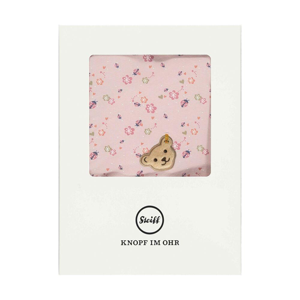 Steiff kötött pléd, takaró díszdobozban katicás mintával- Baby Girls - Bugs Life kollekcó világos rózsaszín    Bunny and Teddy