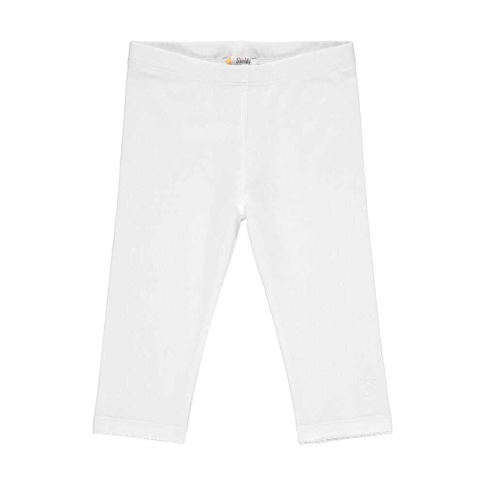 Steiff térd alatt végződő leggings- Mini Girls - Hello Summer kollekció fehér  | Bunny and Teddy