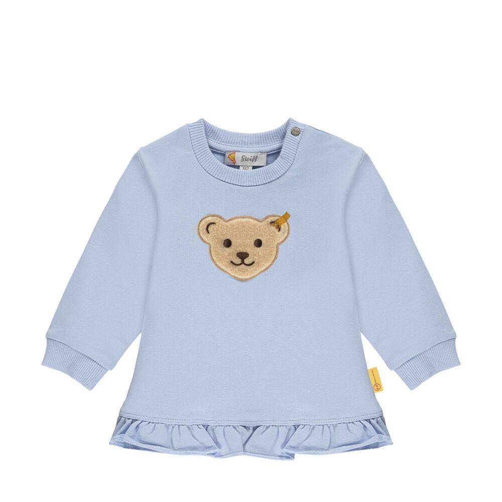 Steiff fordos pamut pulóver,melegítő felső- Baby Girls - Hello Summer kollekció kék    Bunny and Teddy