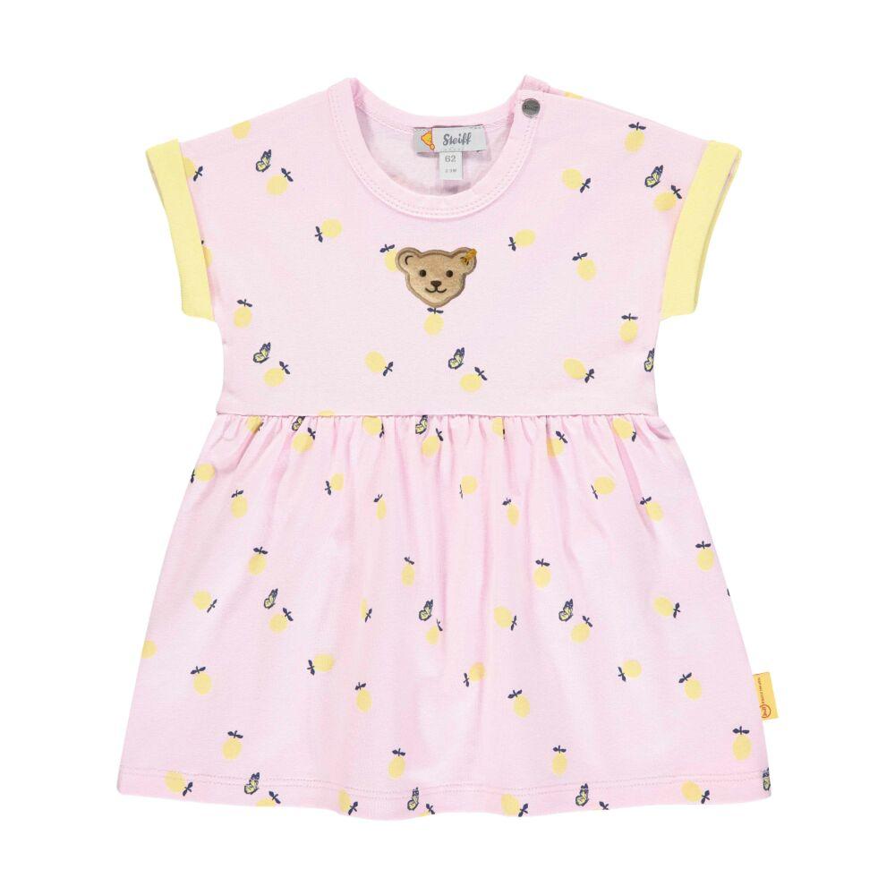 Steiff rövid ujjú body rávarrt szoknya résszel és citromos mintával- Baby Girls - Hello Summer kollekció rózsaszín    Bunny and Teddy