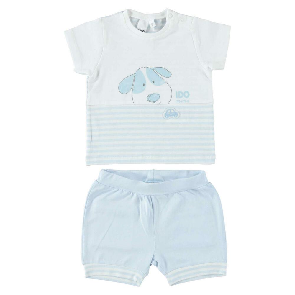 iDO póló és rövidnadrág szett - világoskék - Bunny and Teddy