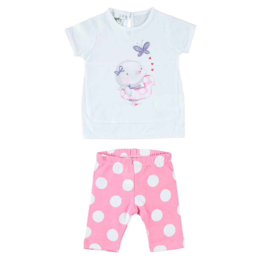 iDO póló és leggings szett - rózsaszín - Bunny and Teddy