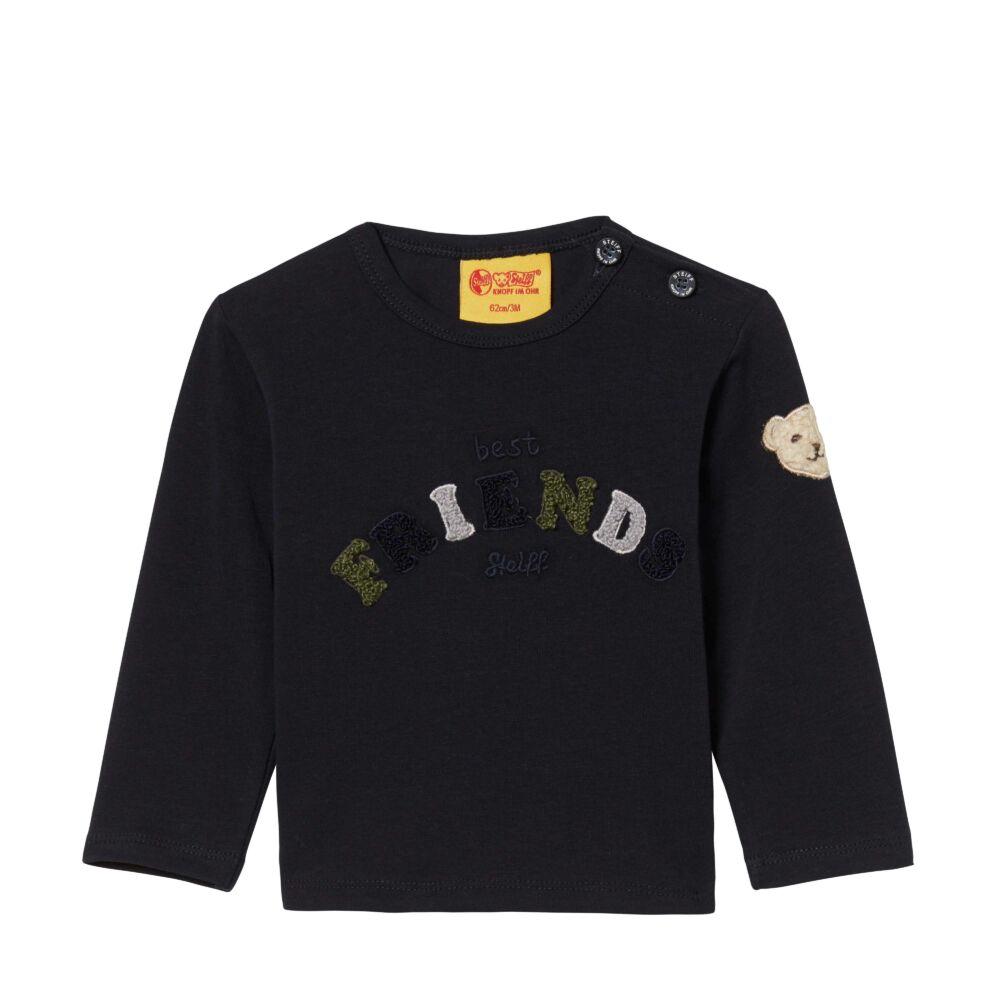 Steiff hosszú ujjú póló - sötétkék/fekete - Bunny and Teddy