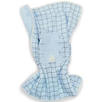 iDO baba pléd puha plüssből 0-tól 18 hónapos korig - világoskék - Bunny and Teddy