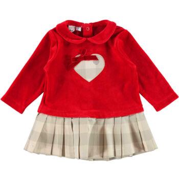 iDO piros ruha rakott szoknyával