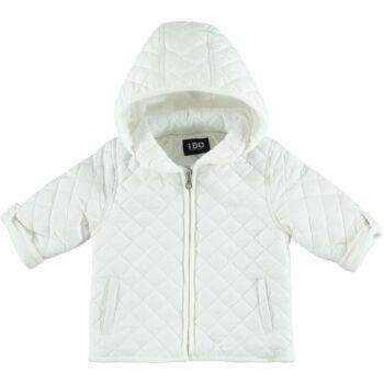 iDO unisex steppelt kabát levehető kapucnival