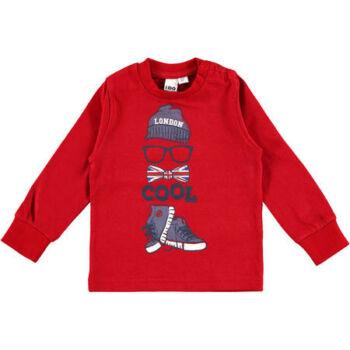 iDO hosszú ujjú póló - piros - Bunny and Teddy
