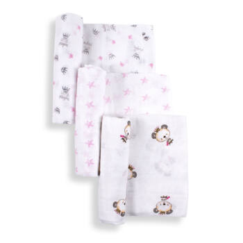 textilpelenka 3db-os csomagban 80 x 80cm | Interbaby