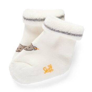 Steiff újszülött zokni - fehér - Bunny and Teddy