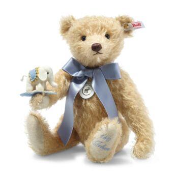 Steiff Teddy maci filc elefánttal - jubileumi kiadás gyűjtőknek