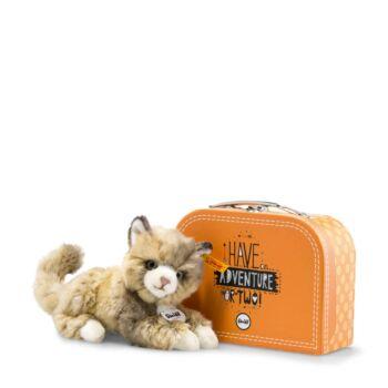 Steiff Lucy cica bőröndben