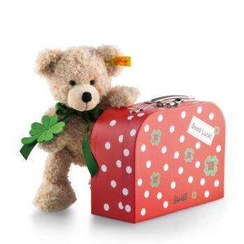 Steiff Fynn Teddy maci bőröndben - bézs - Bunny and Teddy