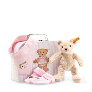 Steiff kislány ajándékcsomag újszülött kortól - világos rózsaszín - Bunny and Teddy