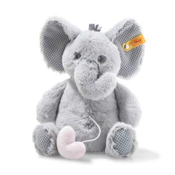 Steiff Soft Cuddly Friends zenélő Ellie elefánt - szürke - Bunny and Teddy