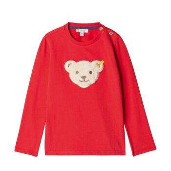 Steiff  Hosszú ujjú póló - sípoló macival - Mini Boys - Red and Blue Winter kollekció