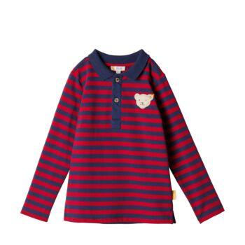 Steiff  Hosszú ujjú, galléros póló - Mini Boys - Red and Blue Winter kollekció
