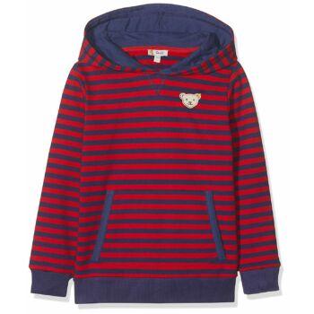 Steiff  Hosszú ujjú pulóver, melegítő felső kapucnival és könyökvédővel - piros - Bunny and Teddy