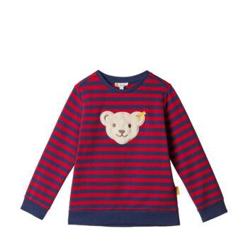 Steiff  pamut pulóver, melegítő felső - sípoló macival - Mini Boys - Red and Blue Winter kollekció
