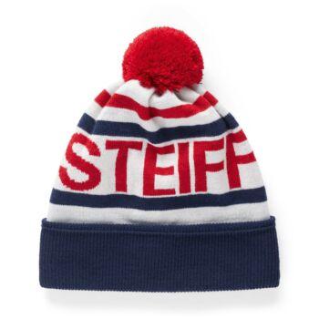 Steiff  Kötött, bélelt gyapjú sapka - Mini Boys - Red and Blue Winter kollekció