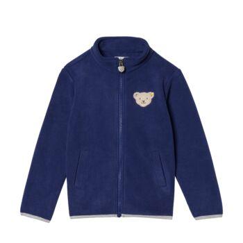 Steiff  meleg, bélelt kardigán puha polár fleece anyagból - Mini Boys - Red and Blue Winter kollekció